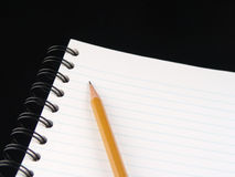 Notebook and Pencil. Photo of a Notebook and Pencil - Part of Series royalty free stock photo