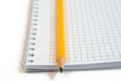 Notebook with pencil Stock Photography