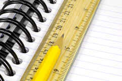 Notebook and Pencil 2 Stock Images