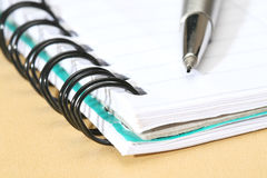 Notebook and Pencil Royalty Free Stock Photography