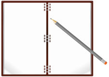 Notebook pencil Royalty Free Stock Photo