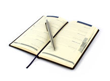 Notebook with pencil Royalty Free Stock Photography