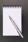 Notebook and pencil Stock Photography