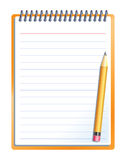 Notebook with pencil Royalty Free Stock Images