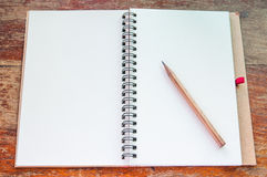 Notebook and pencil. Royalty Free Stock Image