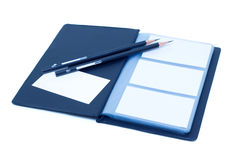 Notebook and pencil (Clipping path)  Stock Photo