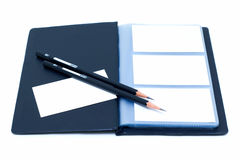 Notebook and pencil (Clipping path) Stock Images