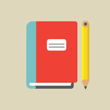 Notebook And Pencil Colored Royalty Free Stock Image