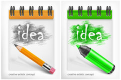 Notebook with idea Royalty Free Stock Photo