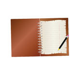 Notebook with pencil  part two Stock Image