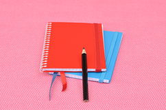 Notepads and pencil Stock Photo