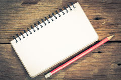Notebook with Stock Image