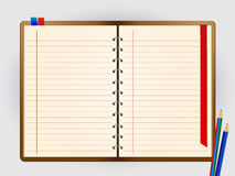 Notebook. And pencil Vector illustration Royalty Free Stock Photo