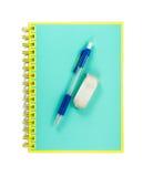 Notebook with Pencil Stock Photos