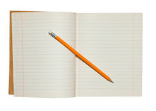 Notebook and Pencil Stock Image