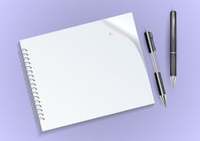 Notebook and pens Stock Images