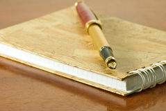 Notebook and pens Stock Image