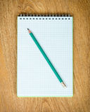 Notebook and pensil Royalty Free Stock Photography