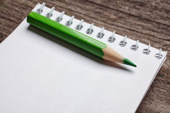 Notebook with pensil Royalty Free Stock Photos