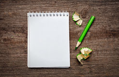 Notebook with pensil Stock Image