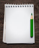 Notebook with pensil Stock Photography