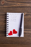 Notebook with plans Royalty Free Stock Photos