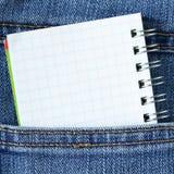 Notebook in pocket Stock Photos