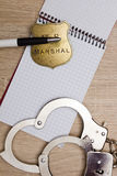 Notebook police detective Royalty Free Stock Images