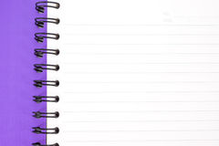 Notebook. Purple notebook Stock Image