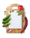 Notebook with recipes Stock Photos