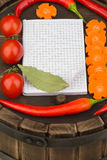 Notebook with recipes and in the kitchen Royalty Free Stock Photography