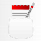 Notebook for recipes and a thermometer Royalty Free Stock Images