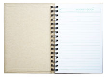Notebook for recording memories. Royalty Free Stock Photos