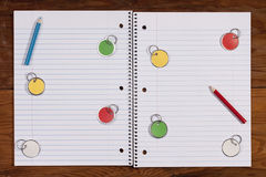 Notebook for records Royalty Free Stock Image