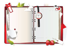 Notebook red Royalty Free Stock Photography
