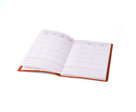 Notebook in red cover Royalty Free Stock Image