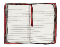Notebook red cover painting vintage Stock Photography
