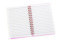 Notebook red lined lying Royalty Free Stock Images