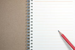 Notebook and Red Pencil Royalty Free Stock Photography