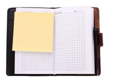 Notebook and reminder note isolated Stock Photo