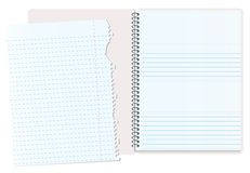 Notebook ripped Royalty Free Stock Images