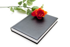 Notebook with rose Royalty Free Stock Image