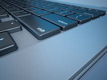 Notebook's Keyboard Closeup Series Royalty Free Stock Photos