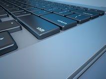 Notebook's Keyboard Closeup Series Royalty Free Stock Photos