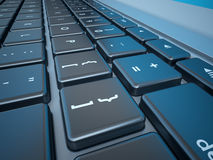 Notebook's Keyboard Closeup Series Royalty Free Stock Photography