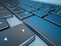 Notebook's Keyboard Closeup Series Stock Photography