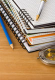Notebook and school accessories Stock Images
