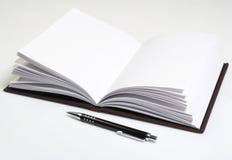 Notebook series. Blank notebokk isolated on white Stock Photos