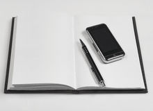 Notebook series. Blank notebokk isolated on white Stock Photography