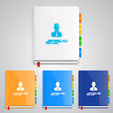 Notebook set color Stock Images